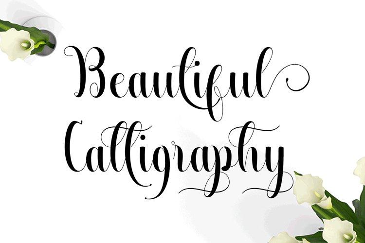 Beautiful Calligraphy example image 1
