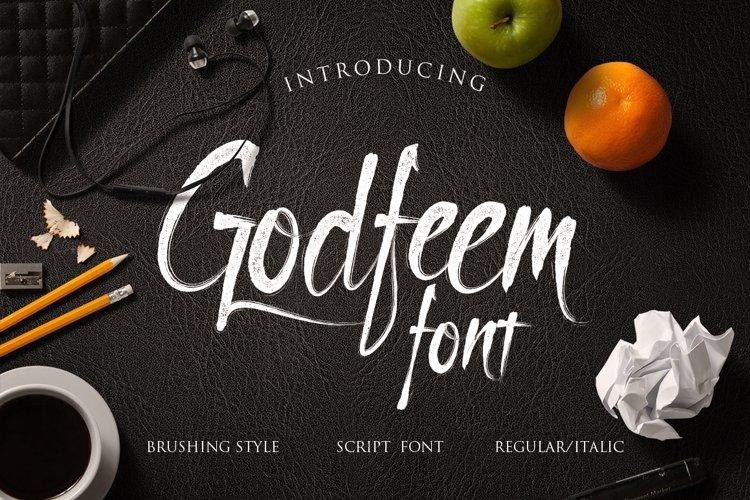 Godfeem font example image 1