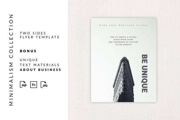 Flyer minimalism
