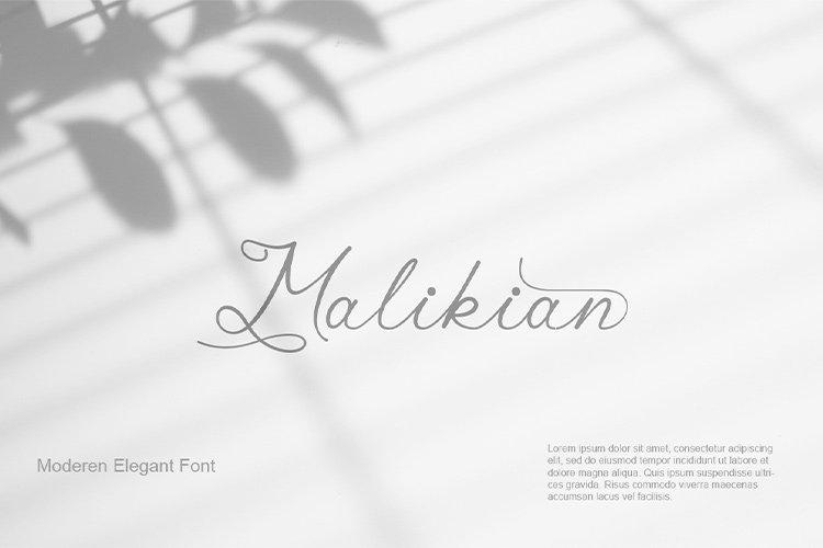 Malikian Script Font example image 1
