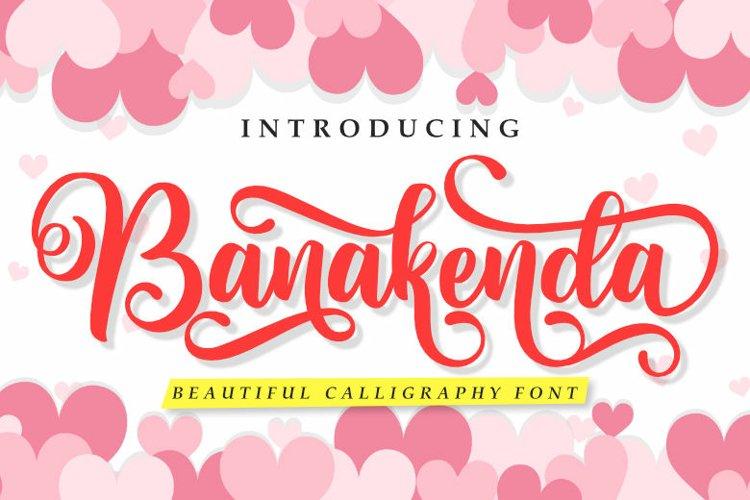 Banakenda | A Beautiful Calligraphy Font example image 1