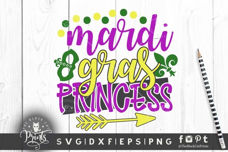 Mardi Gras Princess SVG DXF PNG EPS Girls Mardi gras svg cut