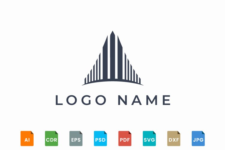 Abstract building logo design example image 1