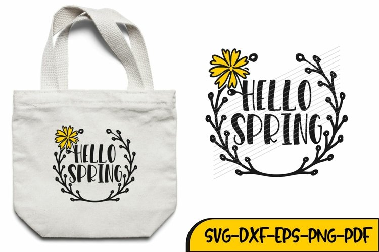 spring svg, hello spring svg, welcome spring, spring dxf