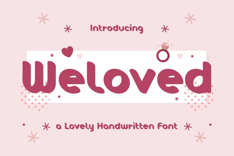 Weloved - Romantic Display Font