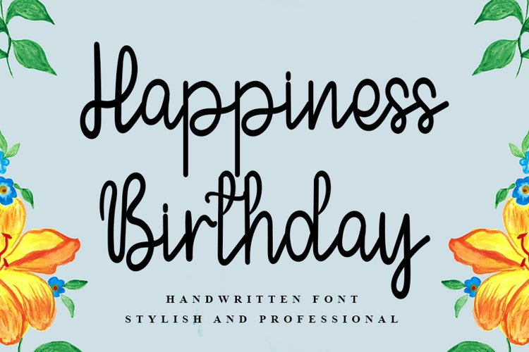 Happiness Birthday | A Handwritten Font example image 1