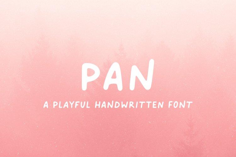 Pan // A Playful Handwritten Font