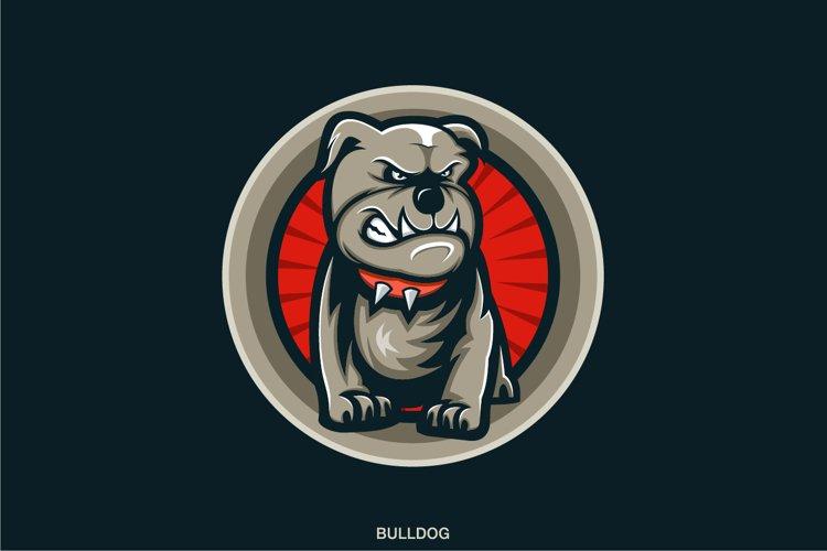 bulldog logo design vektor vector example image 1