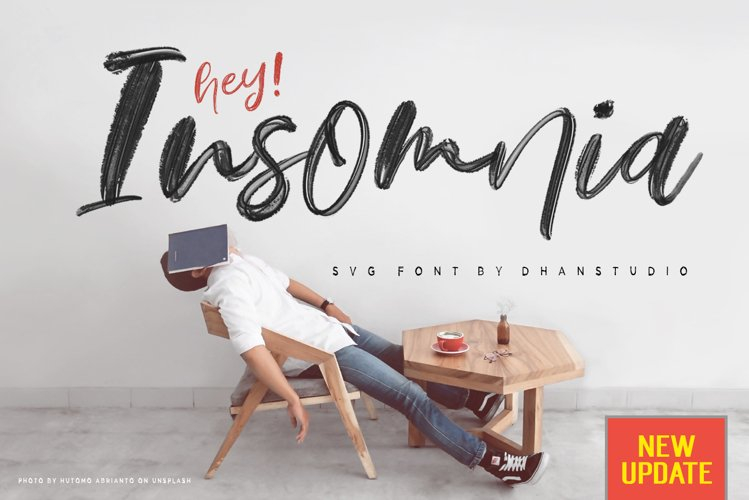 Hey Insomnia SVG Font example image 1