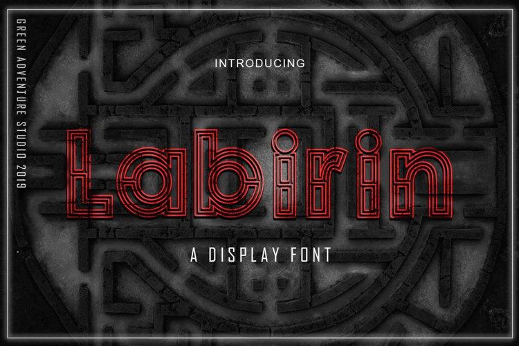 Labirin - A Display Font example image 1