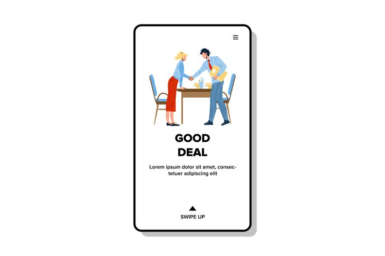 Good Deal Businesspeople Shaking Hands Vector example image 1