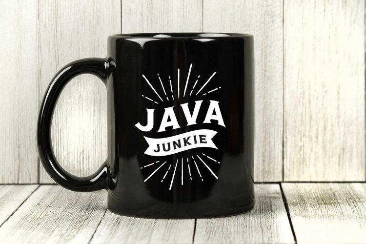 Coffee SVG, Java Junkie, Funny SVG, Coffee Phrase
