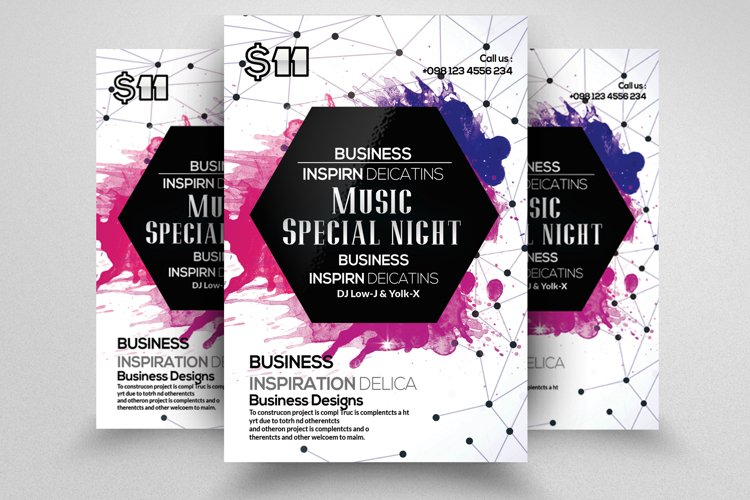 Techno Flyer Template example image 1