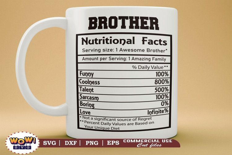 Brother nutrition facts svg, nutrition facts svg