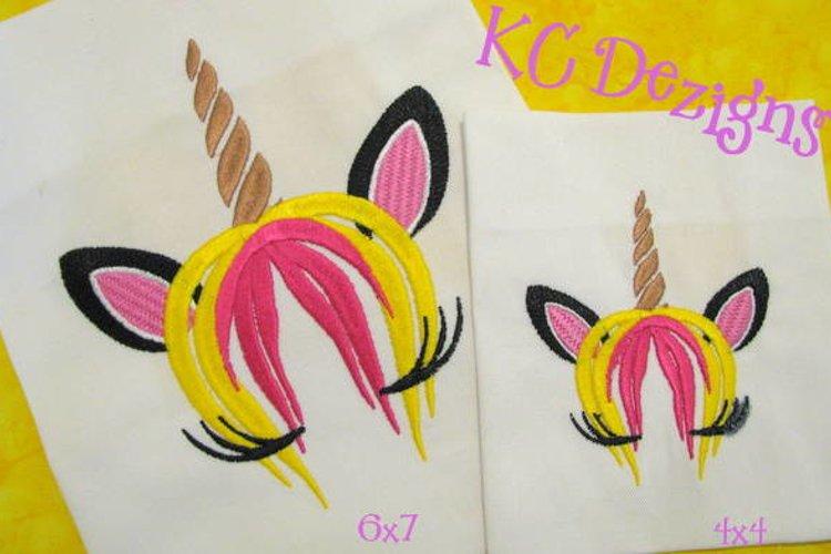Unicorn Face 01 Machine Embroidery Design