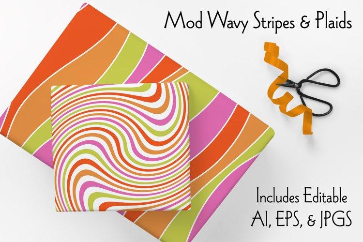 Mod Wavy Stripes & Plaids