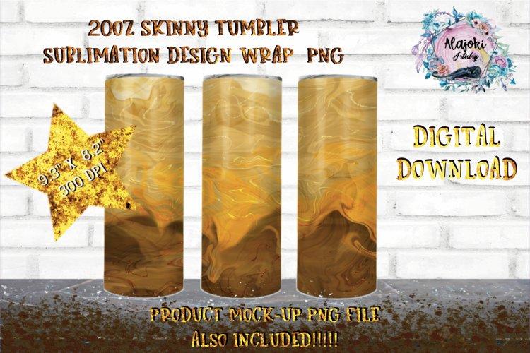 Coffee Swirl   Sublimation Design  20oz Skinny Tumbler Wrap example image 1