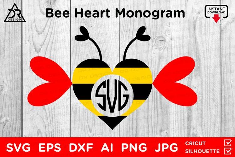 Bee Heart Monogram SVG