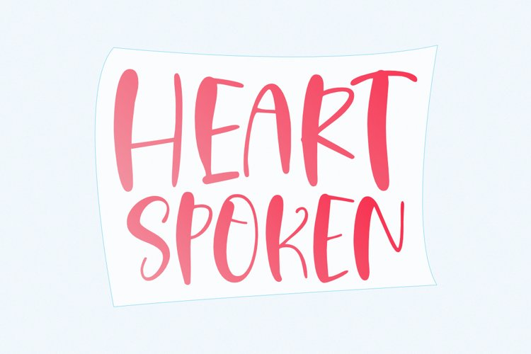 Heart Spoken - A Cute Handwritten Font example image 1