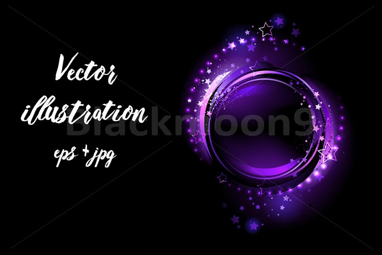 Purple Round Banner example image 1