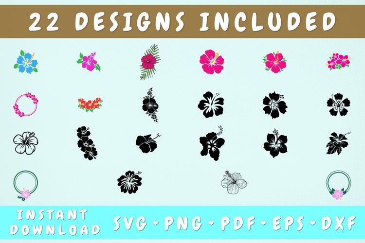 22 Hibiscus SVG Bundle, Hibiscus Cut Files example image 1