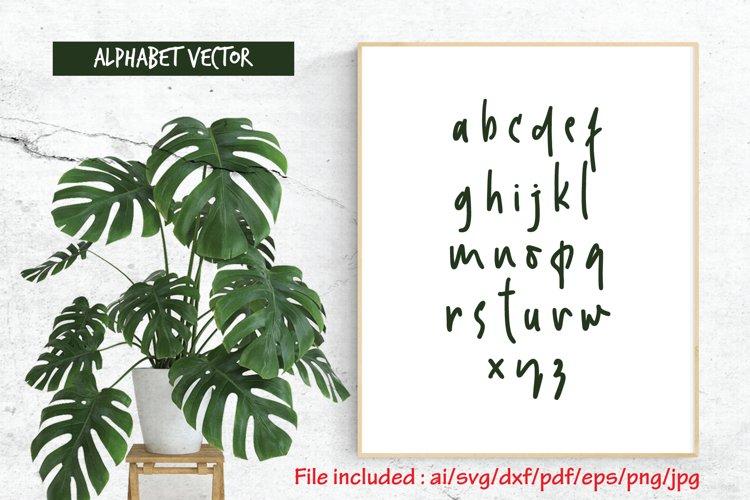 Alphabet Vector_24_Modis_Lowercase example image 1