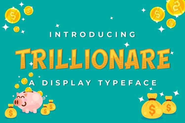 Web Font Trillionaire example image 1