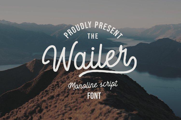 Wailer Monoline Script Font example image 1