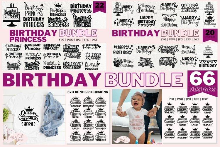 Happy Birthday SVG bundle, Princess svg, Queens are born SVG