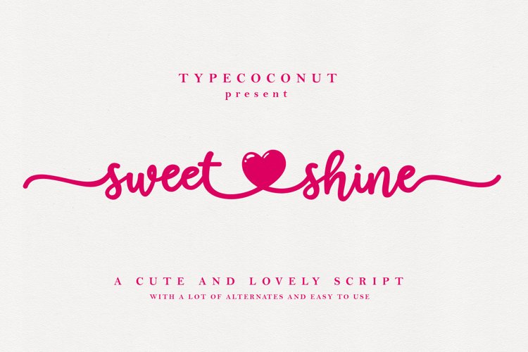 Sweet Shine example image 1