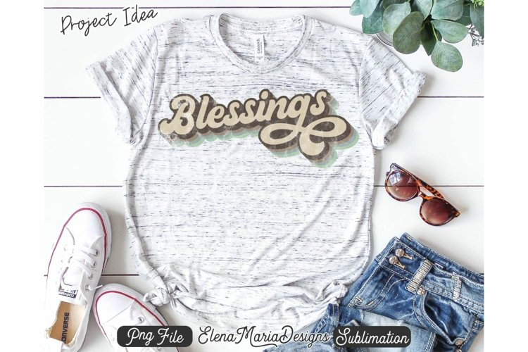 Blessings Retro Sublimation Design | Thanksgiving Fall