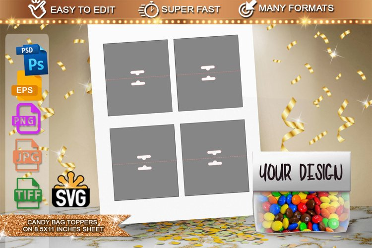 Candy Bag toppers Template example image 1