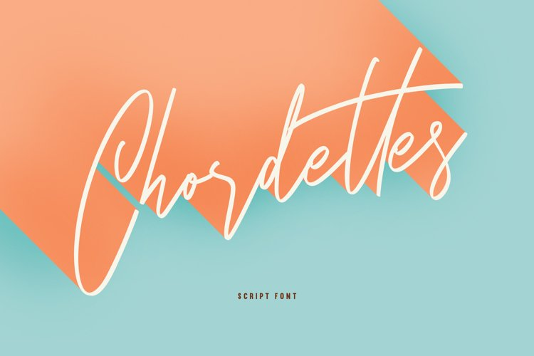 Chordettes Signature Script Brush Handmade Font example image 1