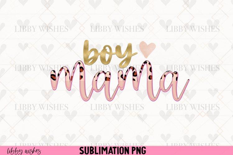 Sublimation Boy Mama mom leopard boho example image 1