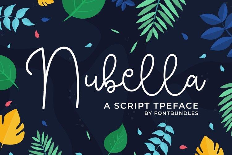 Web Font Nubella example image 1