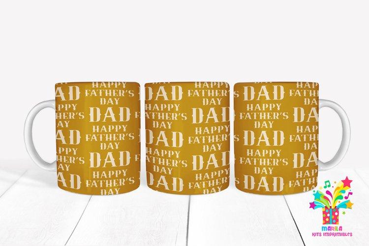 Happy Fathers Day Sublimation Mug Design / Mug Wrap 13 example image 1