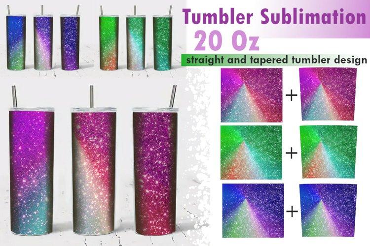 Crystallized Skinny Tumbler Sublimation 20 Oz