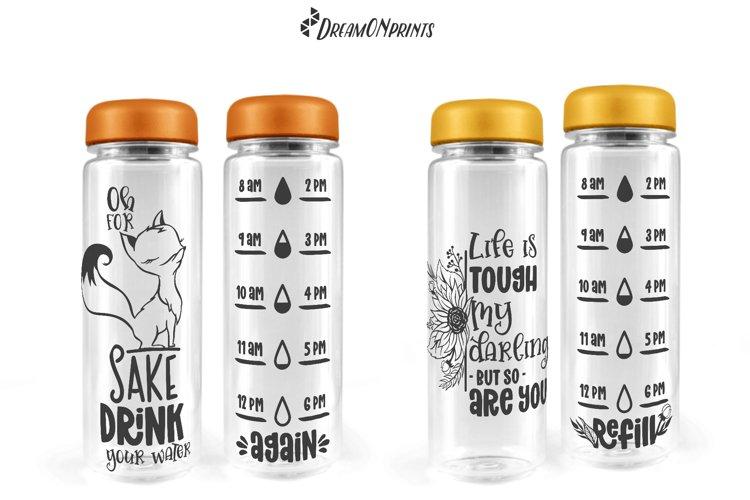 Water Bottle Tracker SVG Bundle   Drink Your Water - Free Design of The Week Design4