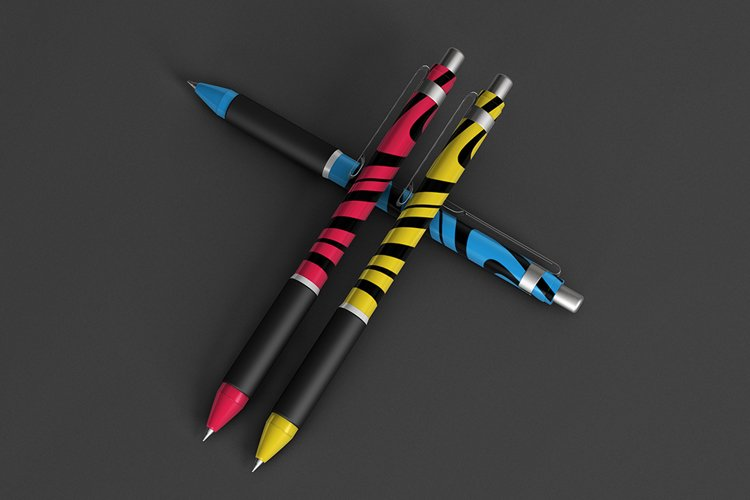 Colorful Pens Mockup example image 1