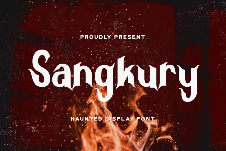 Sangkury - Haunted Display Font example image 1