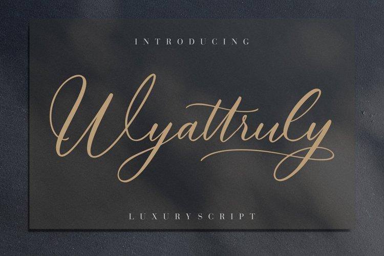 Wyattruly Luxury Script example image 1