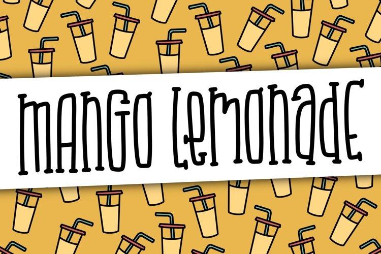 Mango Lemonade a Hand Lettered Font example image 1