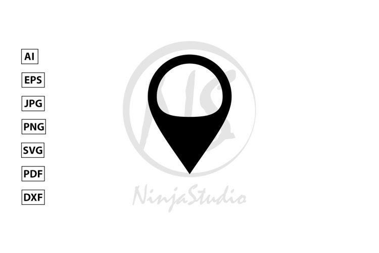 Locator Icon In Flat Style Vector example image 1