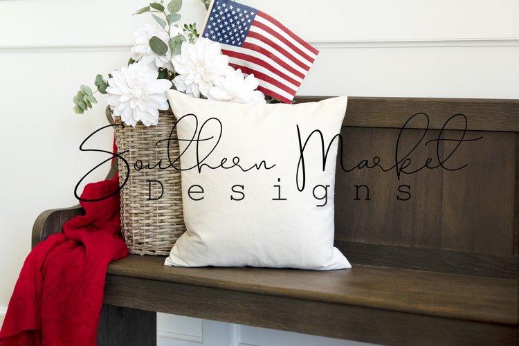 Patriotic Blank Mockup   Pillow Mockup   Mockup   Throw Pill