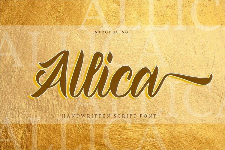 Web Font Allica - Handwritten Script example image 1