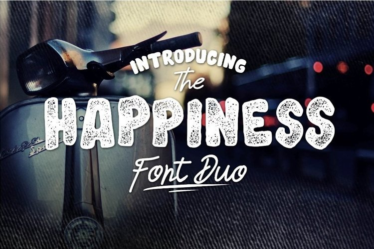 Web Font HAPPINESS FONT DUO example image 1