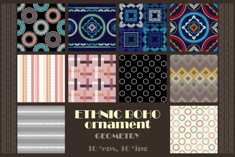 Geometry. Design with manual hatching. Ethnic boho ornament.