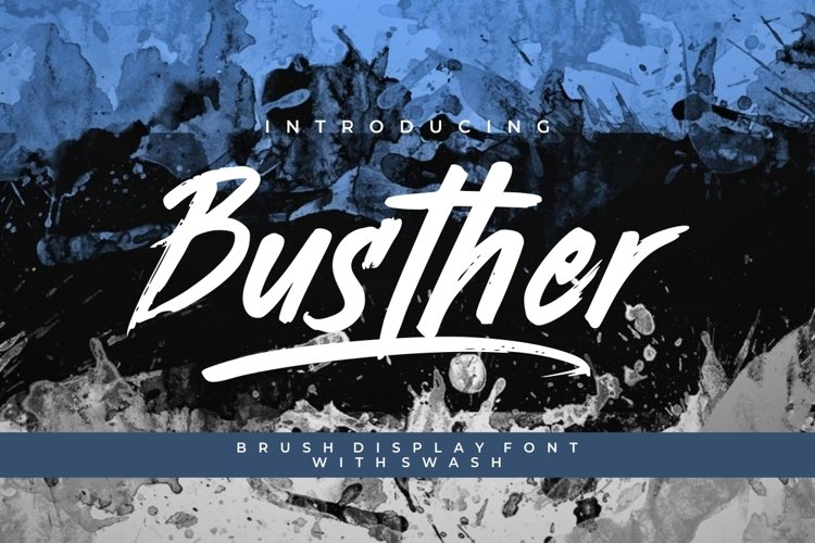 Busther - Handbrush Typeface example image 1