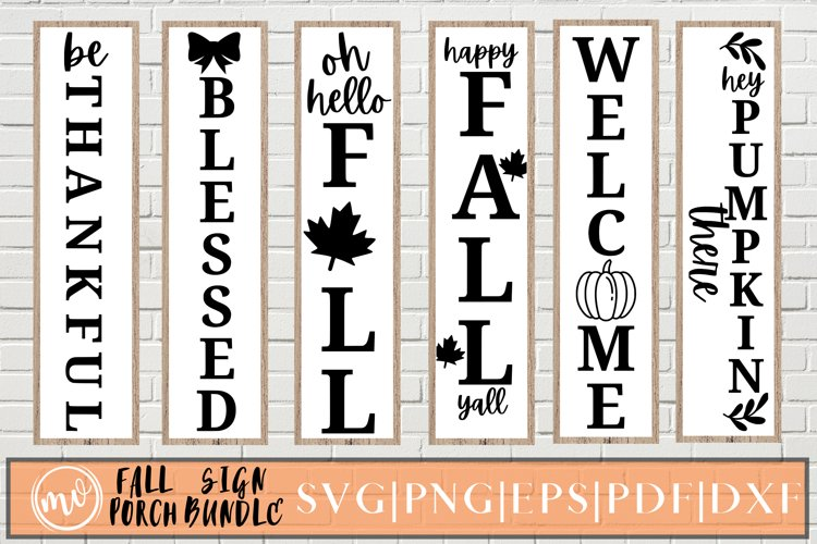 Fall Porch Sign SVG Bundle - 6 example image 1