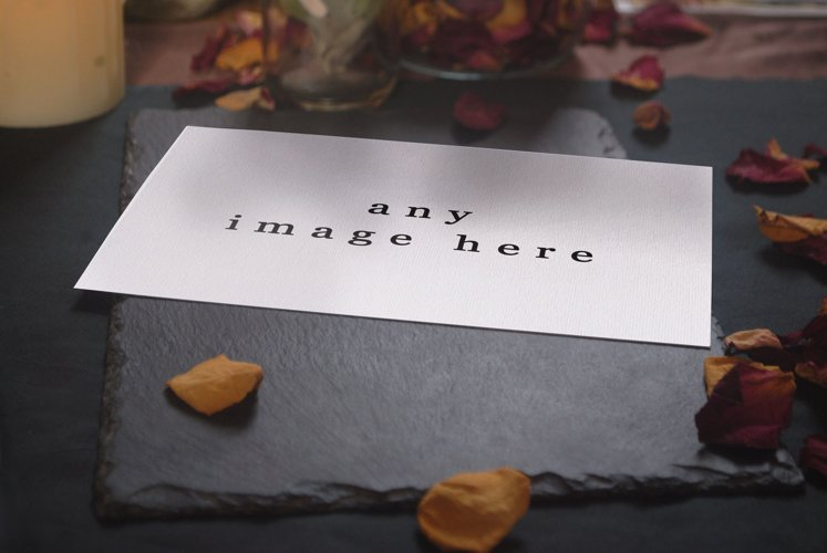 5x7 invitation Mockup, invitation card mockup psd